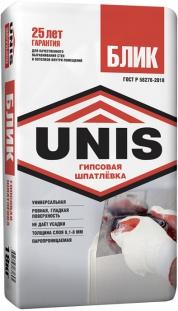 Белая гипсовая шпатлёвка UNIS Блик