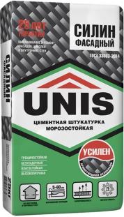 Цементная морозостойкая штукатурка UNIS Силин Фасадный