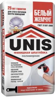 Финишная полимерная шпатлёвка UNIS Белый жемчуг (LR Plus)